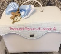 Squared top christening bag