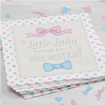 Paper Napkins Little Lady or Mini Mister