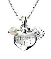 Flower Girl Silver Pendent