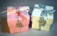 Children's Christening Favour Box with Charm