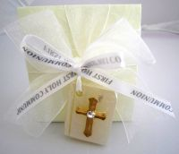 Holy Communion Favour Box with Bible and Ribbon
