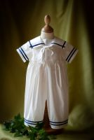 Noah Boys Silk Christening Sailor Suit