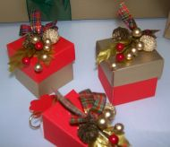 Square Box Christmas Favour