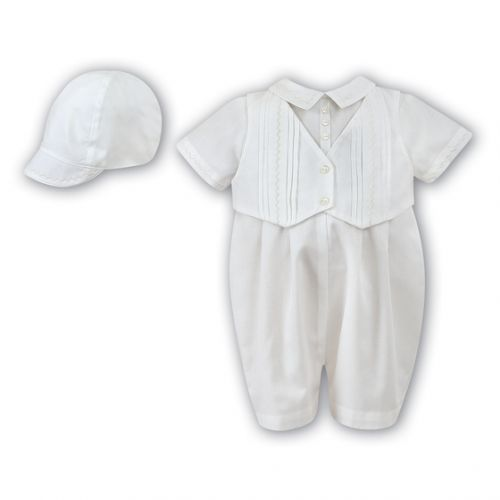 Christening Romper and Cap