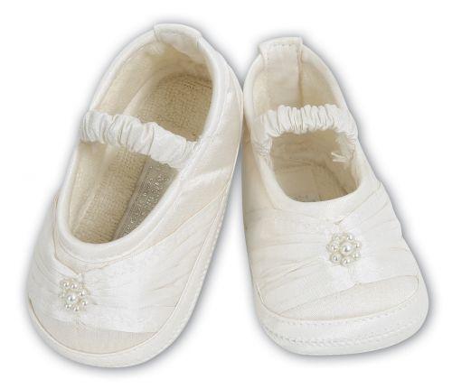 Girls Silk Christening shoes