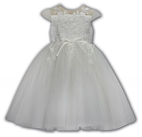 Sarah Louise Embroidered and beaded christening dress