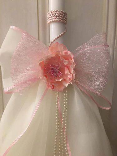 Girls Pink Flower Lambatha
