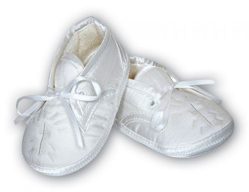 Boys Christening Shoe with Cross