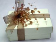 Rectangular Favour Box with Jewels and Ribbon