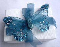 Jewelled Butterfly Favour Box