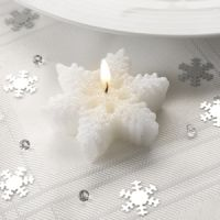 Small Snowflake Christmas Candle Favour